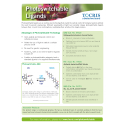 """Switchables ligand"" Newsletter Tocris"