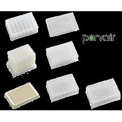 Microplacas blancas para luminiscencia, 96 posiciones. Paq. 100 unidades.Lectura superior
