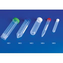 Tubos 2,2 ml. (10,8 x 43 mm) PP con tapa, 100 unidades