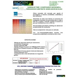 SUREBLUE TMB 1-COMPONENT MICROWELL PEROXIDASE SUBSTRATE: MARCADOR DE ELISA