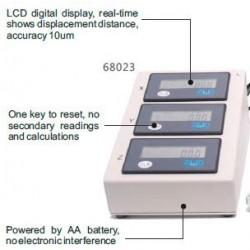 Brazo manipulador de 3 ejes con sensor de desplazamiento digital para conversión de estereotáxico analógico a digital.