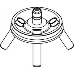 Angle rotor 4 x 15/10ml complete with buckets 13080 (Ø 17x100/120mm) - angle 30°