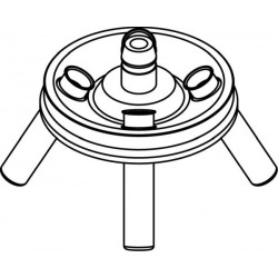 Rotor Angular 4 x 10ml, completo con buckets 13081 (O 17x70/85mm) (angulo 30°) (max RPM/RCF: 5 800rpm/3 122xg)