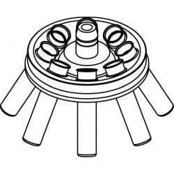 Rotor Angular 8 x 15/10ml, completo con buckets 13080 (O 17x100/120mm) (angulo 30°) (max RPM/RCF: 5 800rpm/3 122xg)