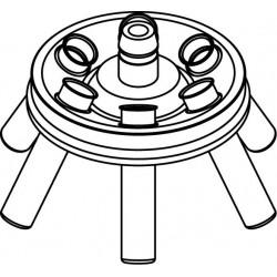 Angle rotor 6 x 15/10ml complete with buckets 13080 (Ø 17x100/120mm) - angle 30°