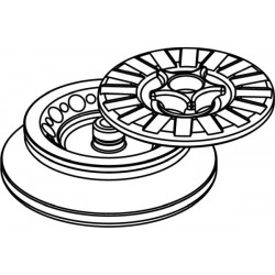 Rotor Angular 12 x 2/1,5ml, con tapa hermética (angulo 45°) (max RPM/RCF 14 500rpm/15 279xg / 6 000rpm/2 616xg)