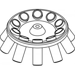 Rotor Angular 10 x 50ml para tubos Falcon, completo con buckets (angulo 30°) (max RPM/RCF: 5 500rpm/4 498xg)