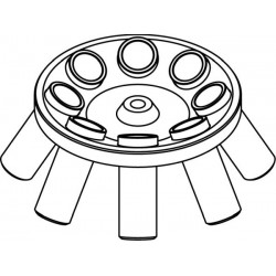 Rotor Angular 8 x 50ml para tubos Falcon, completo con buckets (angulo 30°) (max RPM/RCF: 5 500rpm/4 227xg / 5 000rpm/3 494xg)