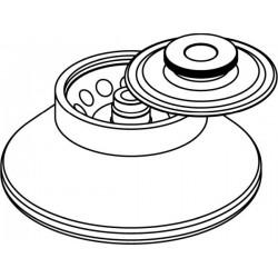 Rotor Angular 12 x 5ml (O 12x85mm), con tapa hermética (angulo 45°) (max RPM/RCF 14 000rpm/19 064xg)