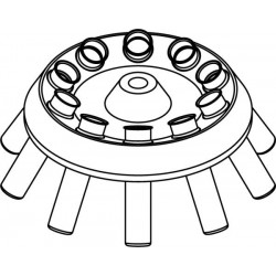 Rotor Angular 10 x 15/10ml, completo con buckets 13080 (O 17x100/120mm) (angulo 30°) (max RPM/RCF 6 000rpm/4 226xg)