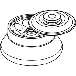 Rotor Angular 8 x 30ml para tubos Nalgene, con tapa hermética (angulo 30°) (max RPM/RCF: 12 000rpm/14 006xg)