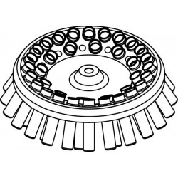 Rotor Angular 36 x 15/10ml, completo con buckets 13080 (O 17x100/120mm) (angulo 30°) (max RPM/RCF: 5 000rpm/3 997xg)