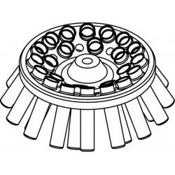 Rotor Angular 24 x 15/10ml, completo con buckets 13080 (O 17x100/120mm) (angulo 30°) (max RPM/RCF: 4 500rpm/2 332xg)