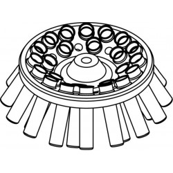 Rotor Angular 24 x 10ml + 8 x 2ml, completo con buckets 13081 (O 17x70/85mm) (angulo 30°) (max RPM/RCF: 4 500rpm/2 332xg)
