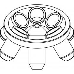 Rotor Angular 6 x 85ml para tubos Nalgene, completo con buckets 13587 (angulo 35°) (max RPM/RCF: 7 000rpm/6 081xg)