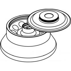 Rotor Angular 10 x 10ml (O 17x75mm), con tapa hermética (angulo 30°) (max RPM/RCF: 14 000rpm/15 558xg)