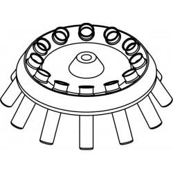 Rotor Angular 12 x 15/10ml, completo con buckets 13080 (O 17x100/120mm) (angulo 30°)