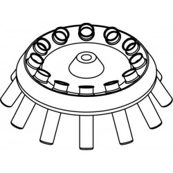 Rotor Angular 12 x 10ml, completo con buckets 13081 (O 17x70/85mm) (angulo 30°)