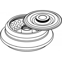 Rotor Angular 48 x 2/1,5ml, con tapa hermética (angulo 45°) (max RPM/RCF: 16 400rpm/28 266xg)