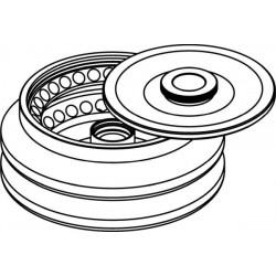 Rotor Angular 60 x 2/1,5ml, con tapa hermética (angulo 45°) (max RPM/RCF: 16 400rpm/29 168xg)