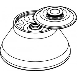 Rotor Angular 12 x 15ml para conical bottom tubes, con tapa hermética (angulo 30°) (max RPM/RCF: 14 000rpm/23 228xg)