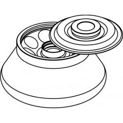 Rotor Angular 8 x 30ml para tubos Nalgene (O25x98mm), con tapa hermética (angulo 30°) (max RPM/RCF: 17 500rpm/29 788xg)