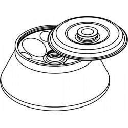 Rotor Angular 4 x 250ml, con tapa hermética (angulo 25°) (max RPM/RCF: 10 000rpm/14 087xg)