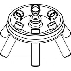 Rotor Angular 6 x 15/10ml, completo con buckets 13080 (O 17x100/120mm) (angulo 30°) (max RPM/RCF: 6 000rpm/3 542xg)
