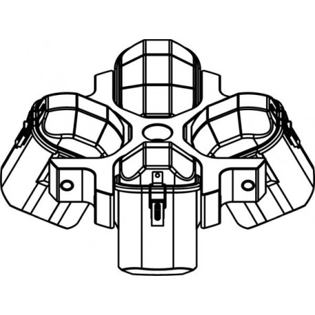 Rotor Oscilante 4 x 500ml (max RPM/RCF: 4 000rpm/3 309xg /4 300rpm/3 824xg)
