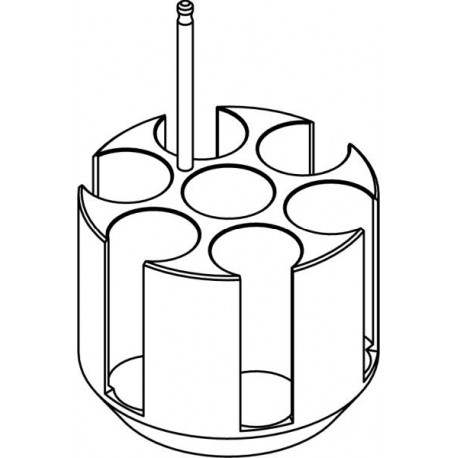 Round carrier (7 x 30mm) for 7 x 50ml Falcon® tubes