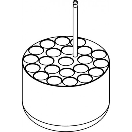 Round carrier  (14 x 16,9mm) for 14 x 15ml Falcon® tubes