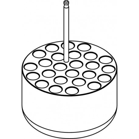 Round carrier (25 x 13,1mm) for blood collection 25 x 1,6÷7ml tubes