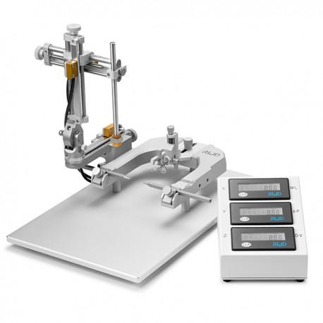 Estereotáxico digital para rata, base en U, 1 manipulador