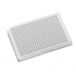 Blancas, 384 posiciones, 120&#956l, recomendadas para luminiscencia, cultivo de tejidos, tapa, estériles, envase individ