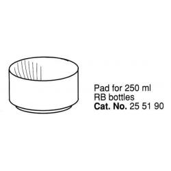 Soporte de plástico para botellas de 250 ml; fondo redondo (6 unidades).