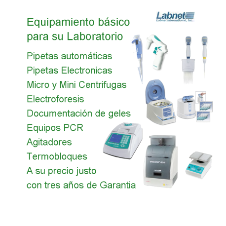 Labnet International. Equipamiento Basico para su Laboratorio