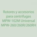Rotores, Accesorios para Centrifugas MPW-102M Universal y MPW-260, MPW-260R y MPW-260RH