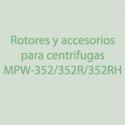 Rotores, Accesorios para centrifugas MPW-352,352R, 352RH