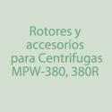 Rotores, Accesorios para centrifugas MPW-380/380R