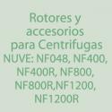 Rotores, Accesorios para centrifugas NUVE-NF400/R, NF800/R, NF1200/R