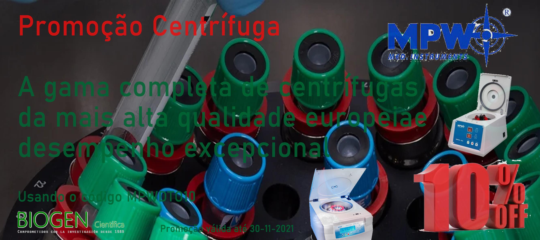 Promoção Centrífuga -A gama completa de centrífugas da mais alta qualidade europeiae desempenho excepcional