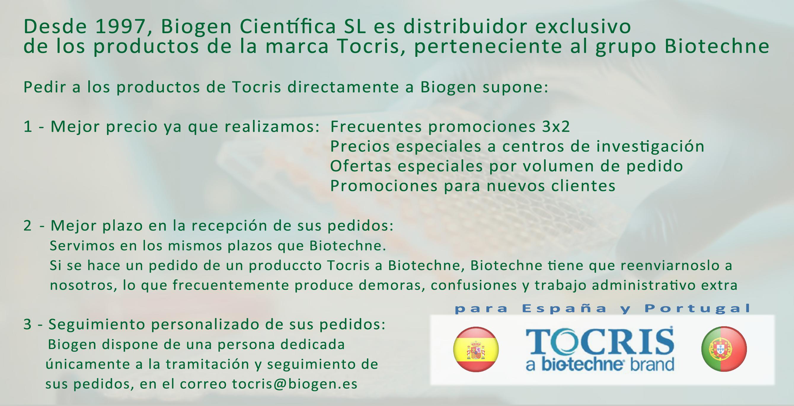 BIOGEN Distribuidor Exclusivo Tocris