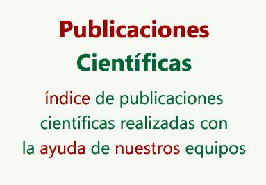 Publicaciones Cientificas elaboradas con la ayuda de nuestros equipos